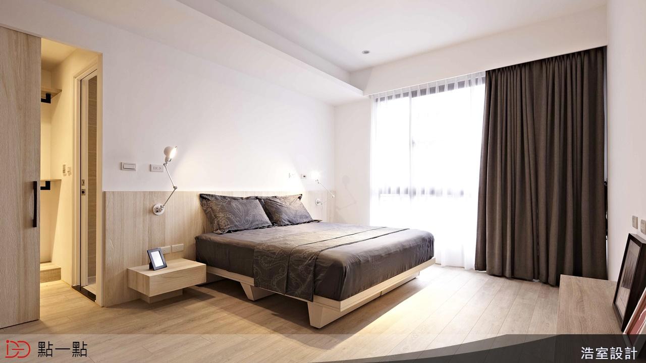 点一点室内设计 - 文化石x钢刷梧桐木